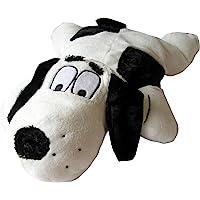 SnuggleSafe Microwave Heat pad Cover Dog Bonzo, Black/White