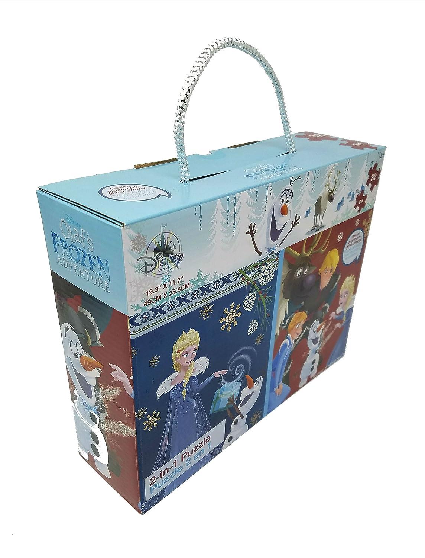 Disney Olafs Frozen Adventure 2-in-1 Puzzle Plus Bonus Sven Plush Disney Store