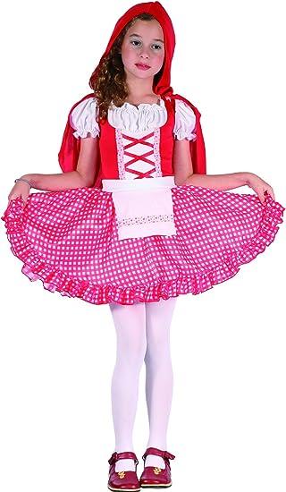 Disfraz de caperucita roja niña 4-6 años (104/116): Amazon.es ...