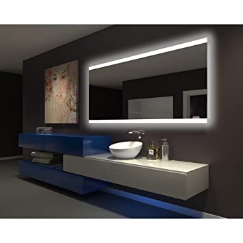 IB Mirror DIMMABLE Backlit Bathroom Mirror PARIS 80 In X 35 In 6000 K