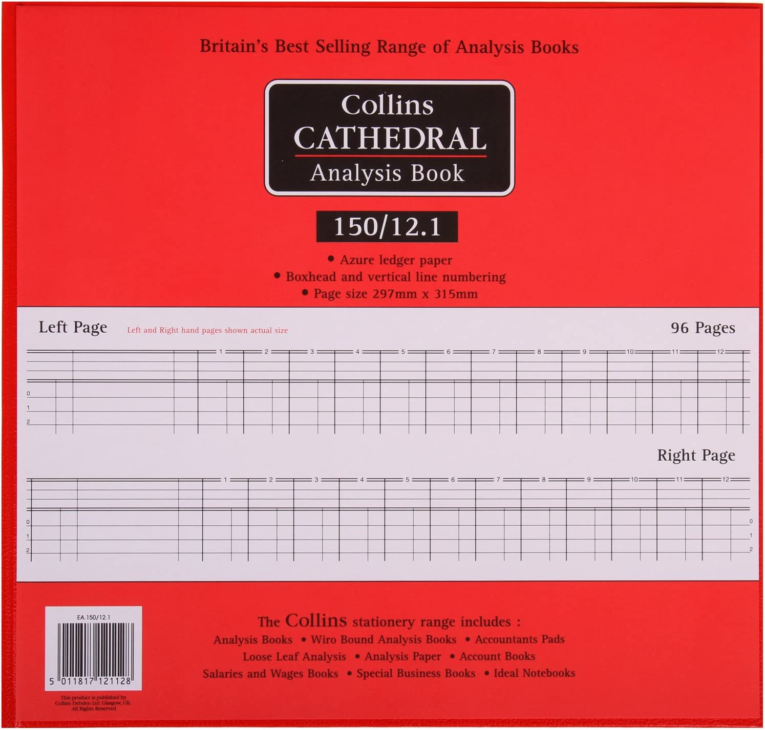 Choice of Cash Column Collins Cathedral Analysis Account Book 150 Series