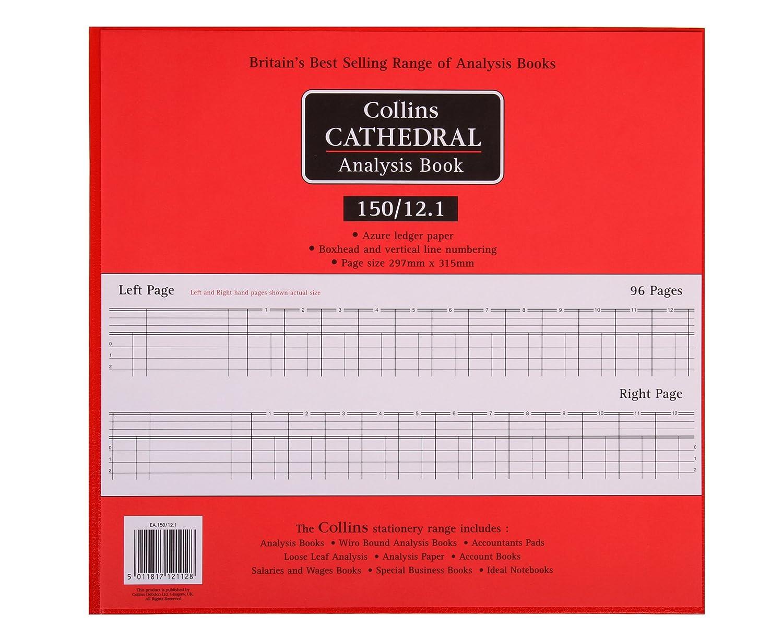 9 columnas, 96 p/áginas, 297 x 315 mm Cuaderno para contabilidad Collins Cathedral 150 Series