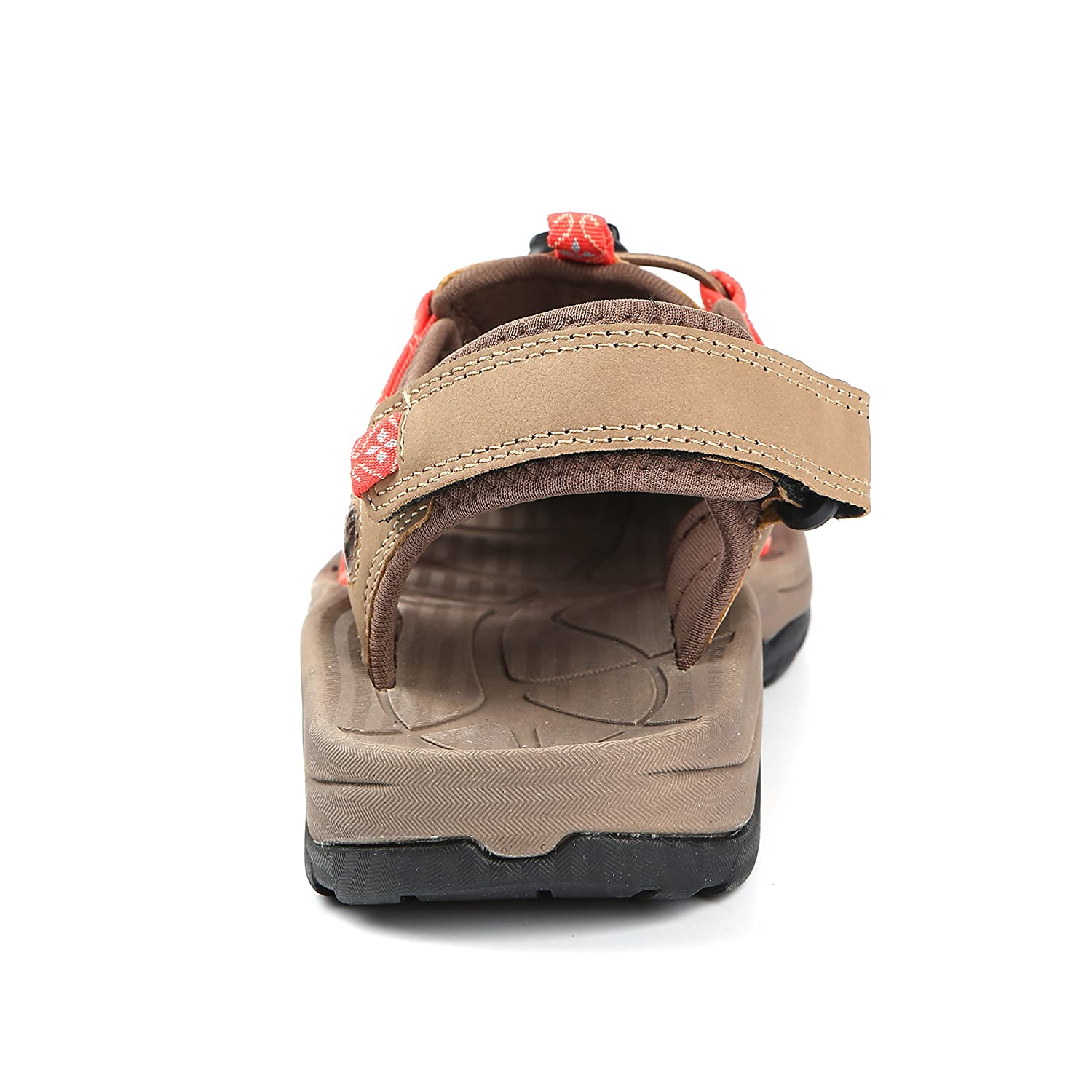 Northside Womens Savannah Sport Closed Toe Sandal B079THC2V2 9 B(M) US|Tan/Coral