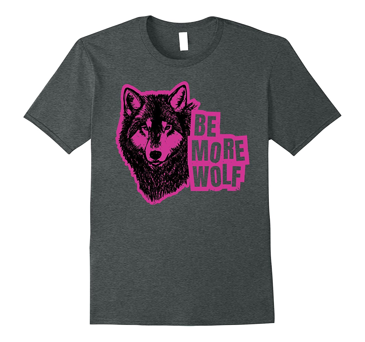 Wolf T-Shirt : Be More Wolf (Purple)-TH