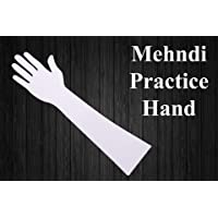 HENNA ART Reusable Acrylic Hand for Mehndi Practice(White)