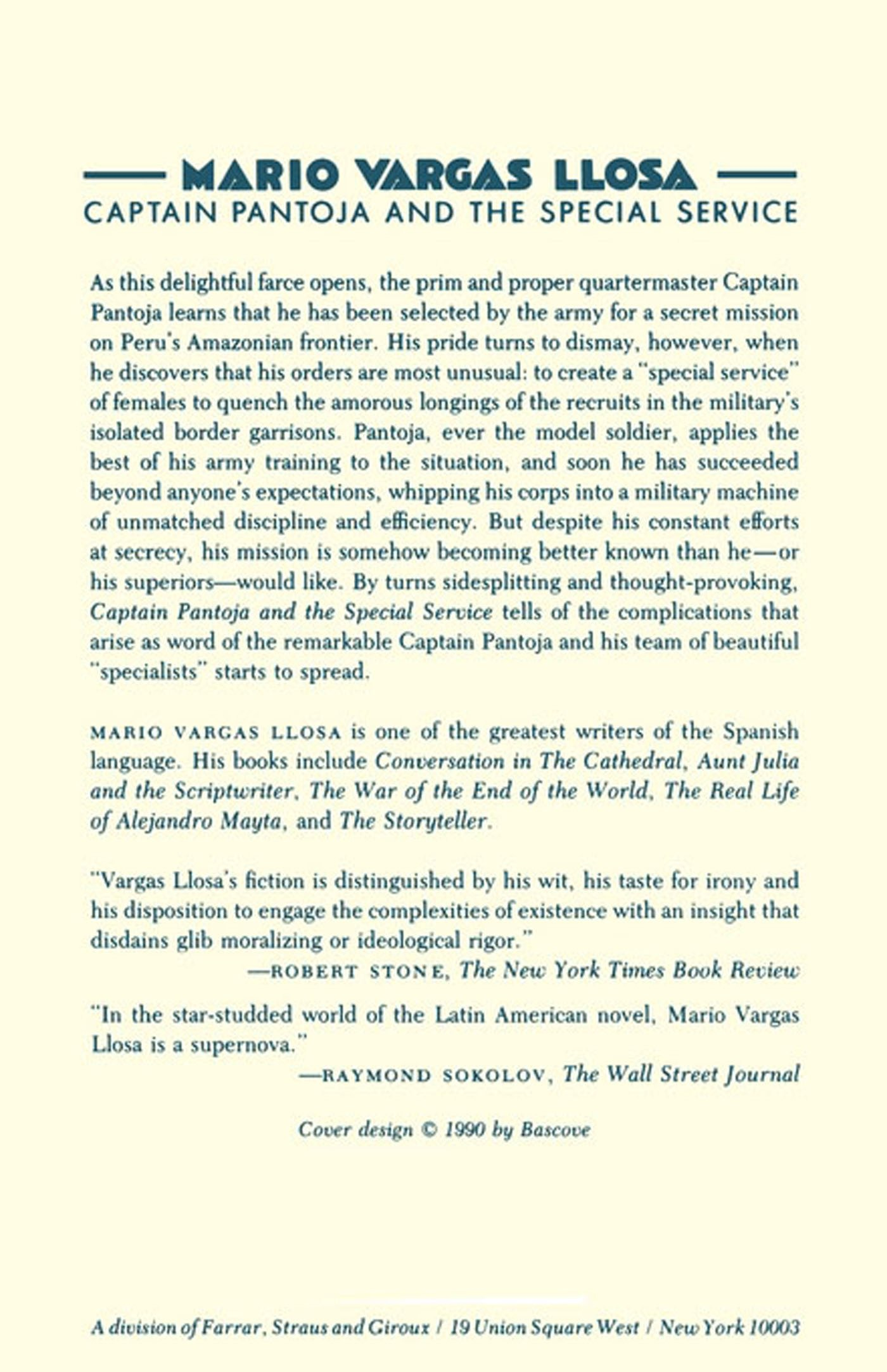 Captain Pantoja And The Special Service: A Novel: Mario Vargas Llosa,  Gregory Kolovakos, Ronald Christ: 9780374522360: Amazon: Books