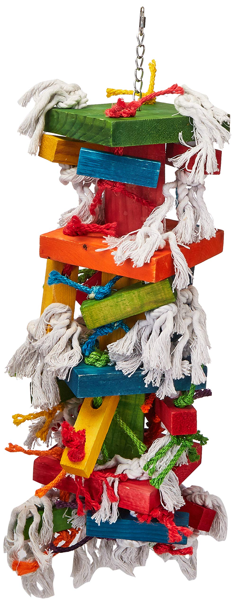 Paradise Knots &Blocks Chewing Toy, Colorful & Entertaining, Keeps Birdy Happy, X-Large, 22'' x 8'' x 8'' by Paradise
