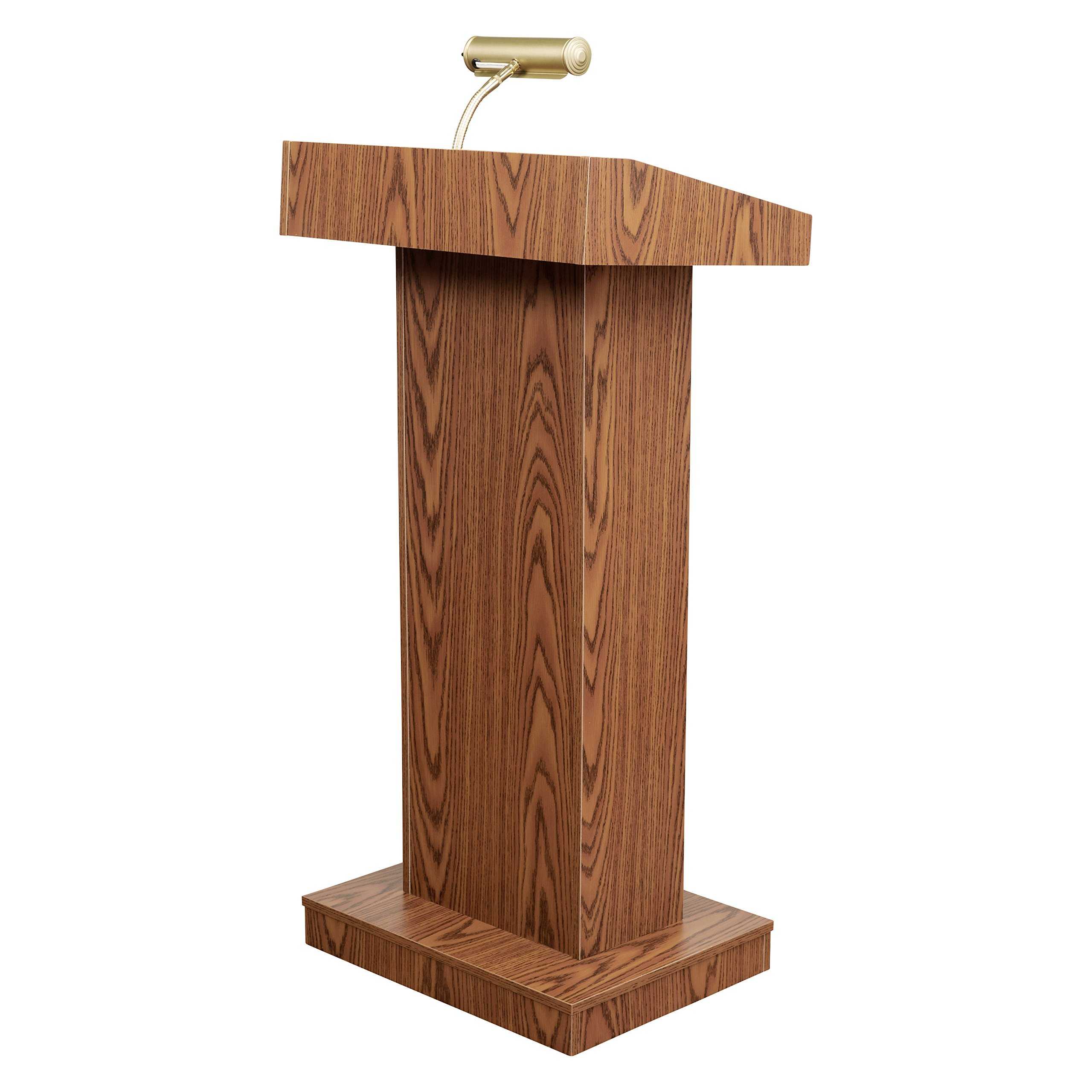 Oklahoma Sound 810-MO The Orator Adjustable Height Lectern, Medium Oak