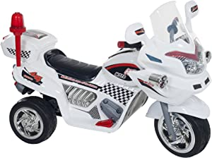 Ride on Toy, 3 Wheel Motorcycle Trike for Kids, Battery Powered Ride On Toy by Lil' Rider– Ride on Toys for Boys and Girls, 2 - 6 Year Old - White
