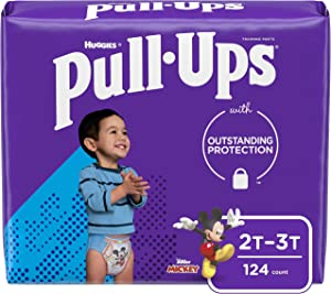 Pull-Ups Learning Designs Boys' Training Pants, 2T-3T, 124 Ct
