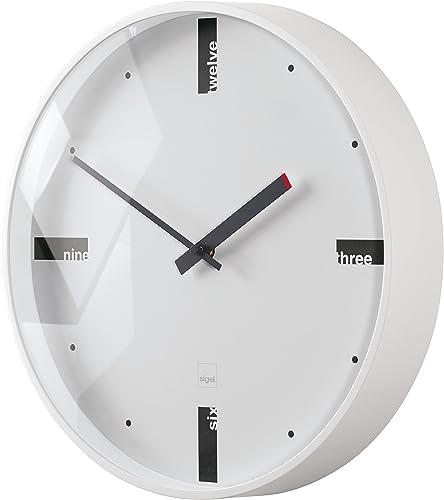 Sigel WU112 artetempus Design Wall Clock, Model acto, White