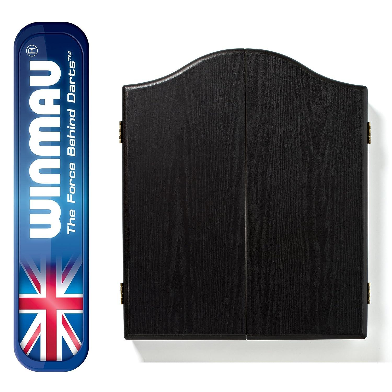 Winmau Dartboard Cabinet Black Ash Effect