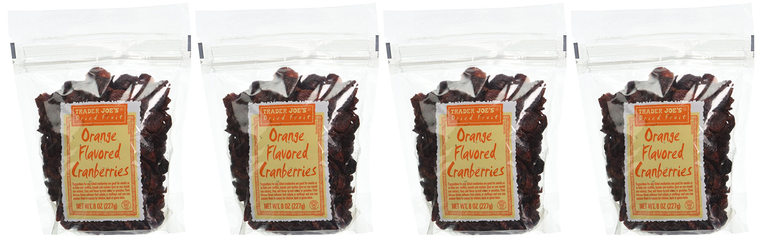 Trader Joe's Dried Fruit: Orange Flavored Cranberries, 8 ounce bags, Set of 4 by Trader Joe (Image #2)