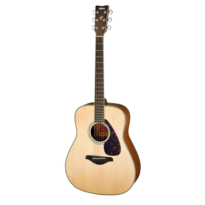 yamaha fg740sfm solid top flamed maple acoustic guitar
