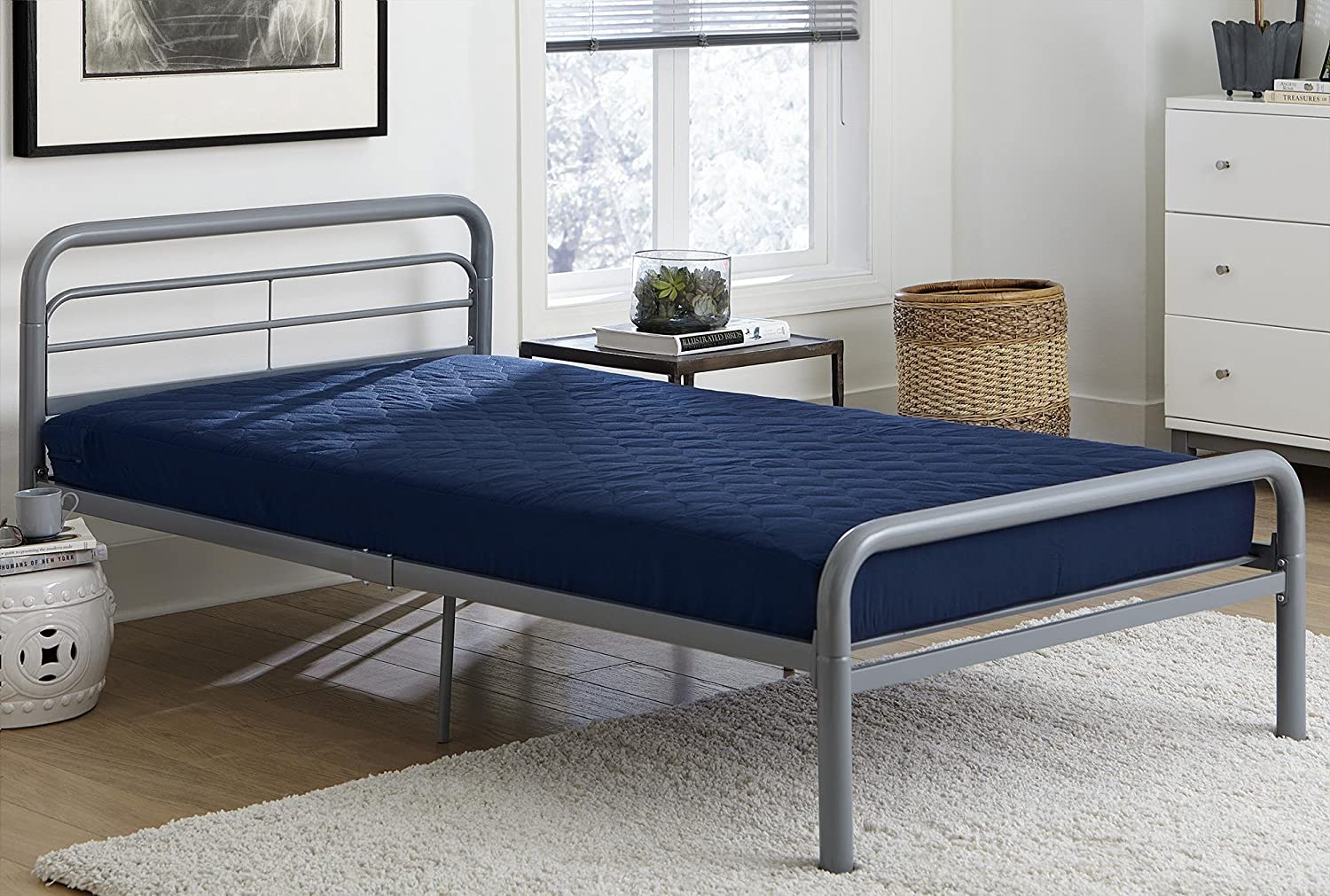 Amazon Com Dhp 6 Quilted Top Bunk Bed Mattress Furniture Decor