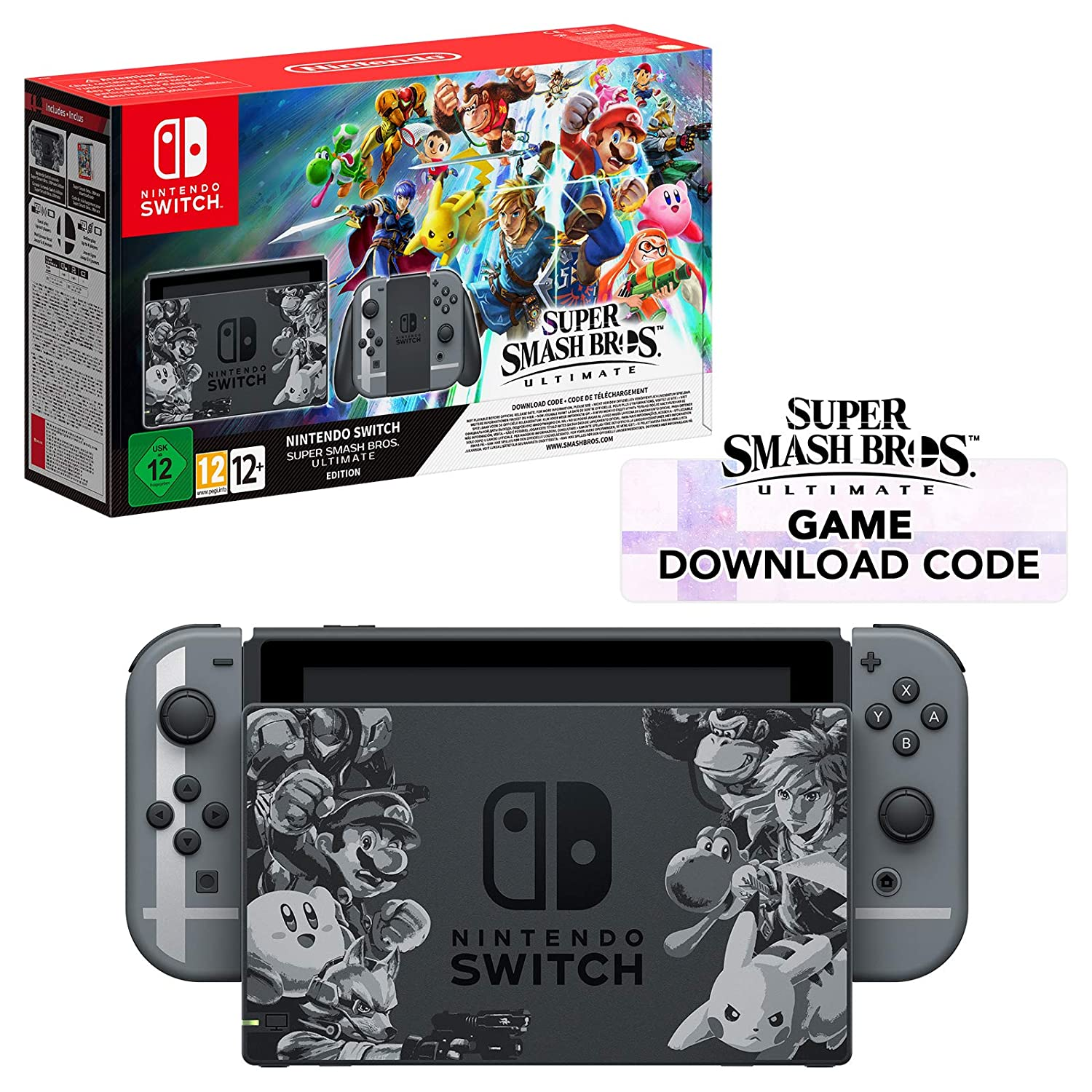 Resultado de imagem para NINTENDO SWITCH 32GB GRAY BUNDLE SUPER SMASH BROS ULTIMATE