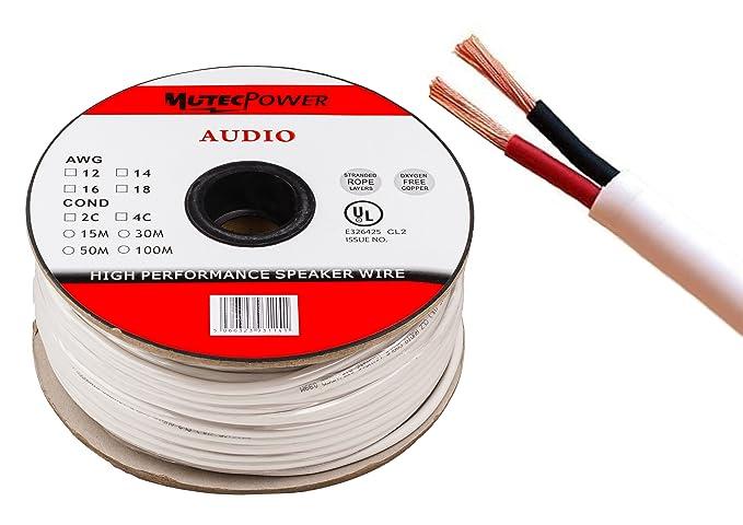 Mutec-Cable - Lautsprecherkabel 2 x 2.5mm² 50M: Amazon.de: Elektronik