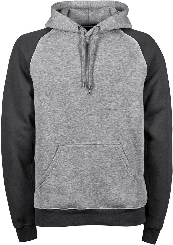 Tee Jays Mens Two-Tone Hooded Sweatshirt