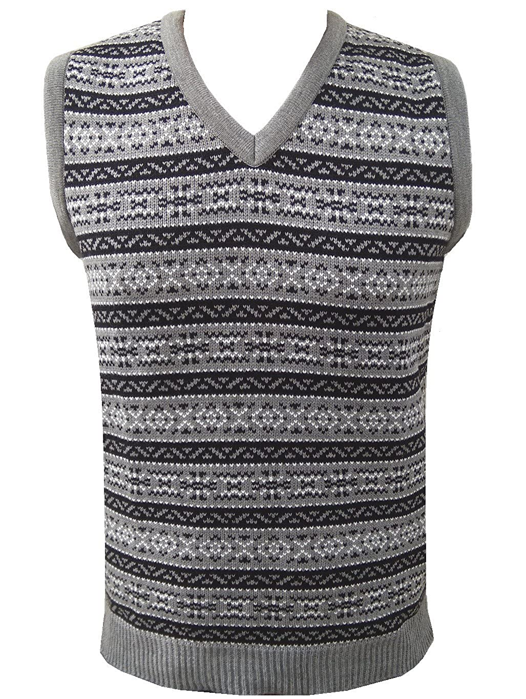1940s Style Mens Shirts, Sweaters, Vests London Knitwear Gallery Aztec Retro Vintage Knitwear Tanktop Sleeveless Golf Sweater £18.99 AT vintagedancer.com