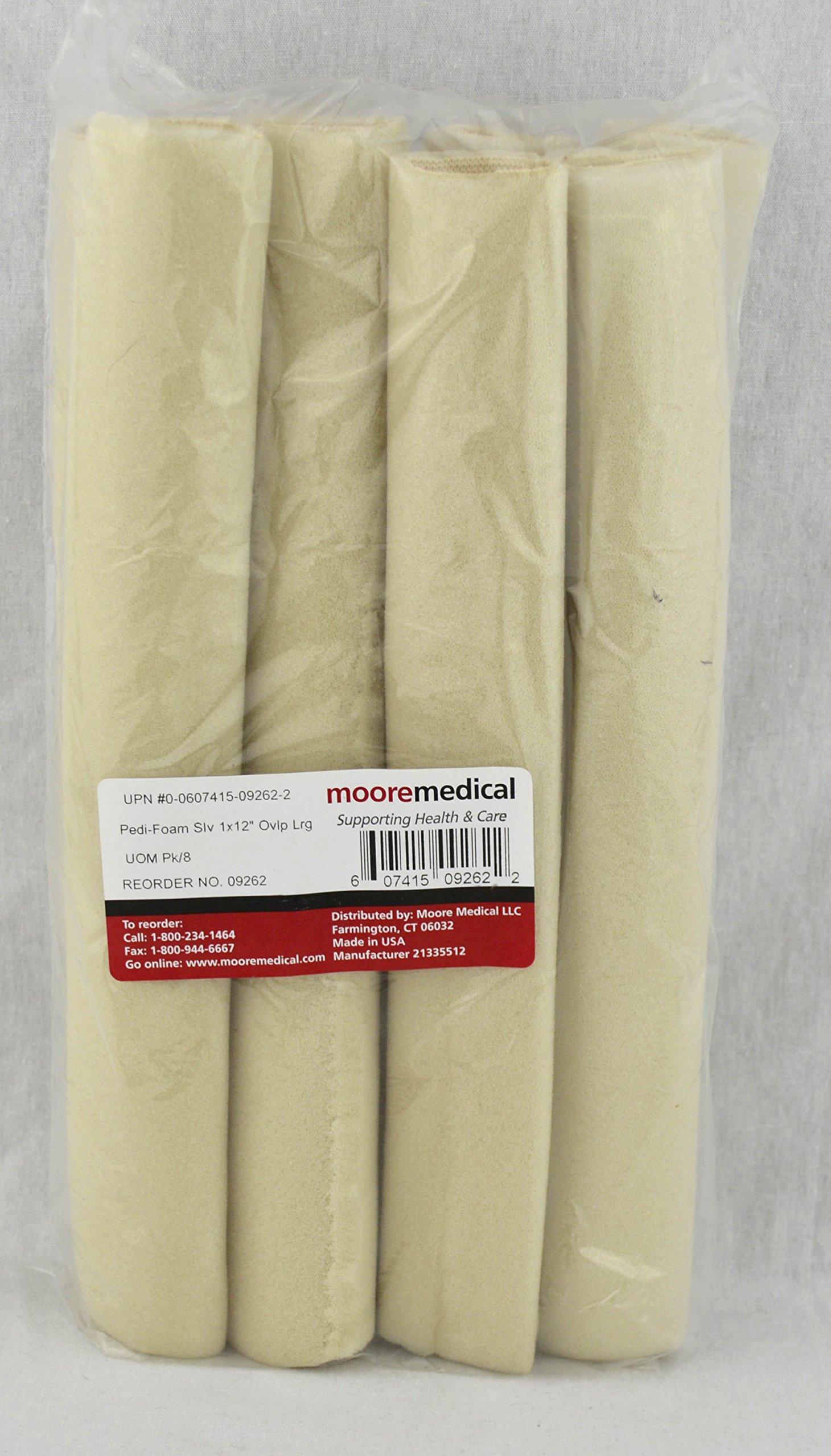 Moore Medical Pedi-foam Sleeves #6 Overlap Large 1''