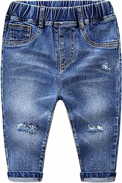 MMWORM Baby Boys Denim Shorts Jeans Short Pants Ripped Jeans Denim Shorts 4 Color