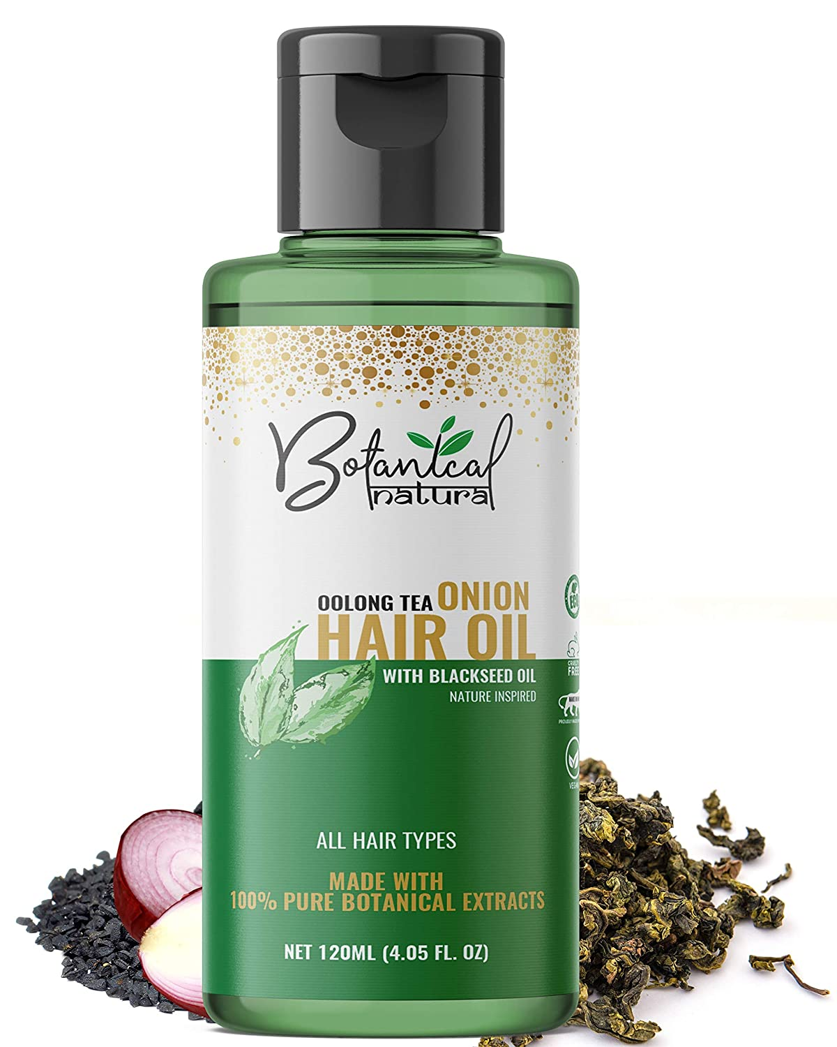 Botanical natura Oolong Tea Onion Hair Oil with Black Seed Oil
