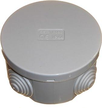1 caja de conexiones eléctrica redonda de 80 mm x 40 mm con ...