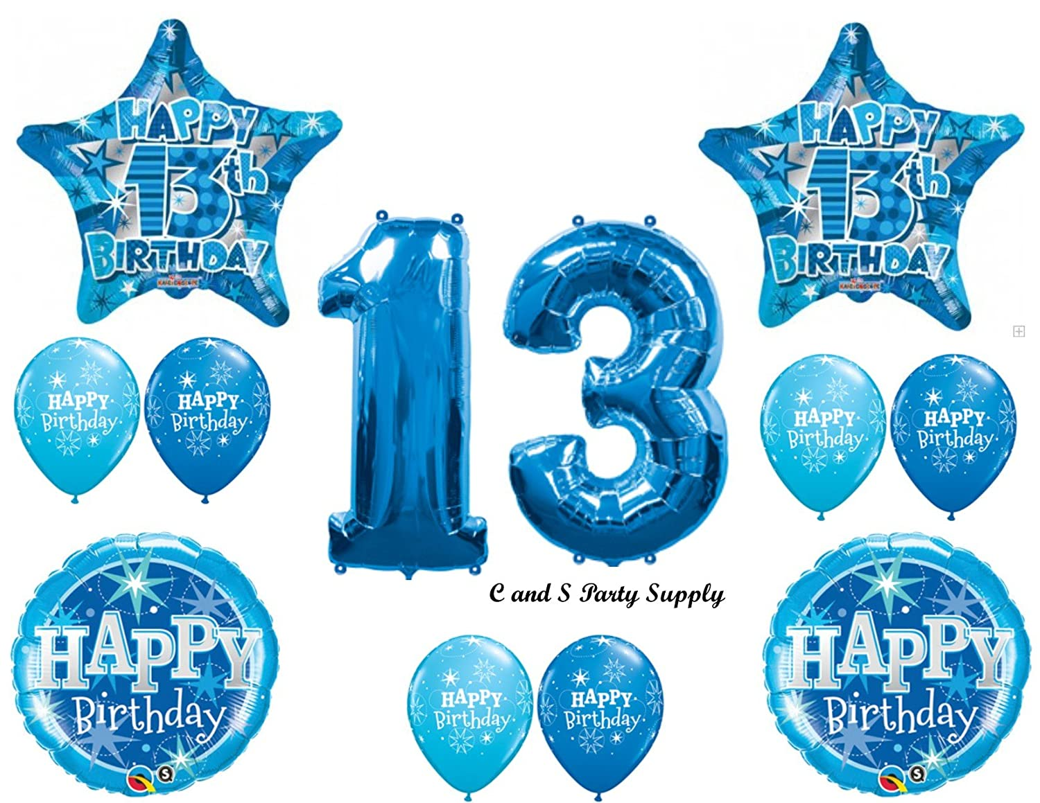 Amazon.com: BOY'S 13TH Teenager Balloons Birthday party Decoration ...