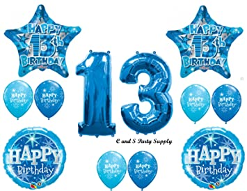 boys 13th teenager balloons birthday party decoration supplies thirteen girl by anagram - Party Decoration Stores