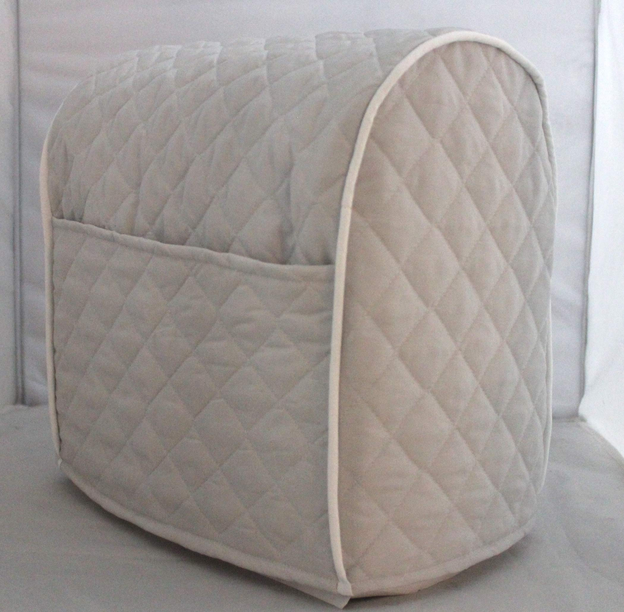 Simple Home Inspirations Quilted Cover Compatible for KitchenAid Stand Mixer, Piped with 2 Pockets (Ash Gray, Lift) by Simple Home Inspirations