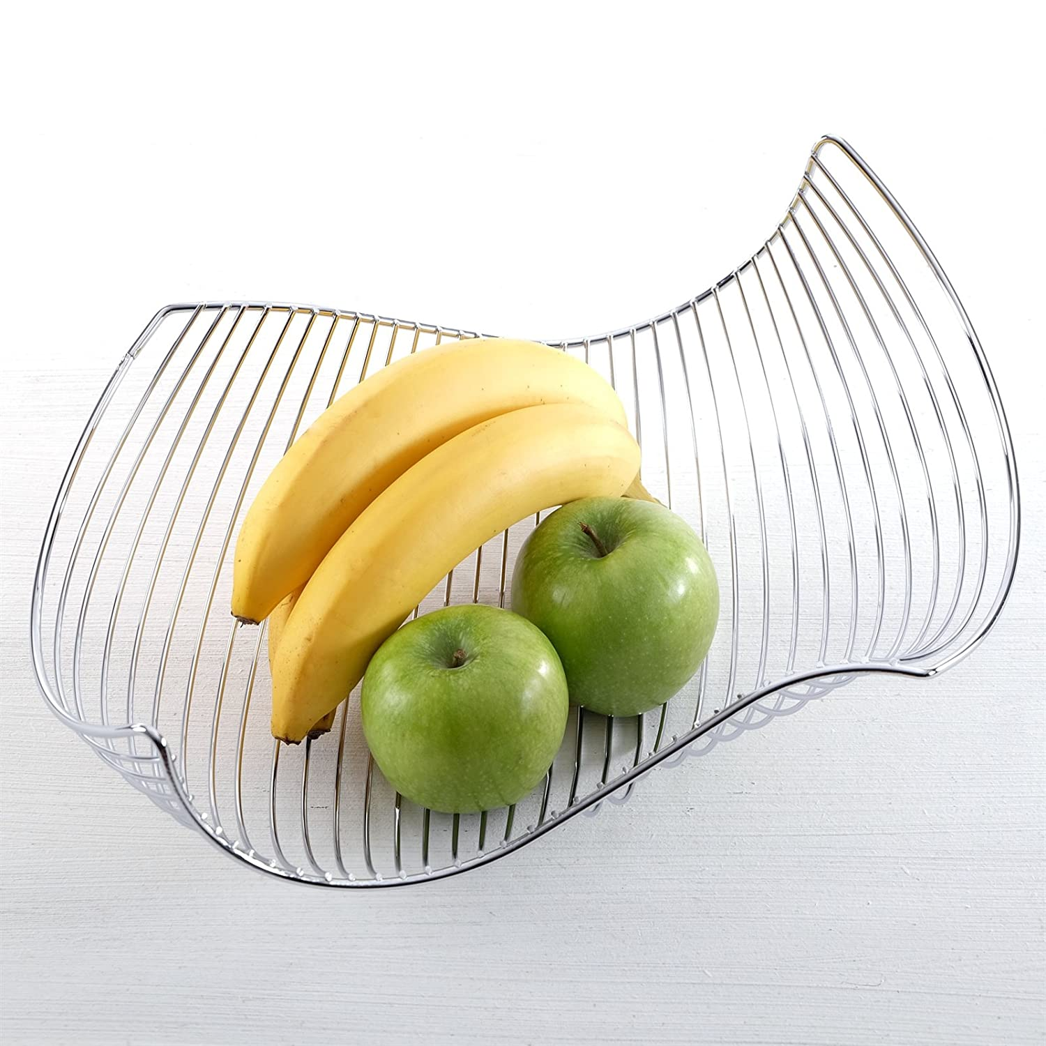 DESIGN FRUIT BOWL//BREAD BASKET in chromed steel silver from XTRADEFACTORY