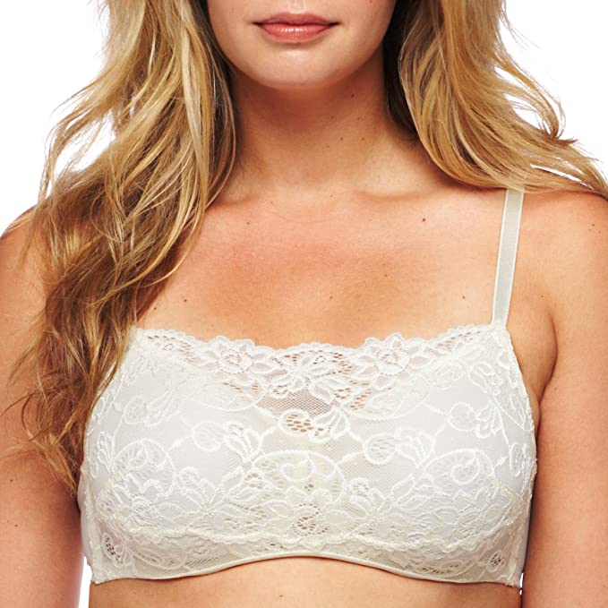 fef24fddeb Olga Bra  Pretty Lace Full-Figure Full-Coverage Camisole Bra 35263 -  Women s  Amazon.ca  Clothing   Accessories