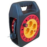 Cable alargador con enrollador 3x1,5mm (4 tomas, 15