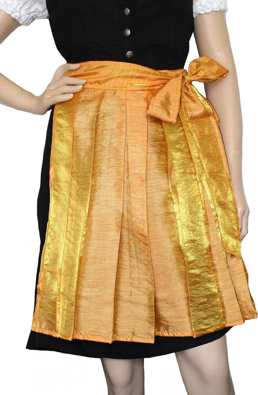 Mini Dirndlschürze Trachtenschürze in der Farbe Orange/Gelb