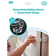 Stove Knob Covers |6 Pack| Child Safety Oven Baby Proofing Kit w/Oven Door Strap as a Bonus (6Pack Stove Knob Covers + Oven Door Strap) by Zen Products