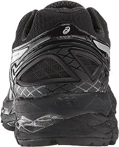 Women's Gel Kayano 22 Running Shoe, OnyxSilverCharcoal, 6.5 M US