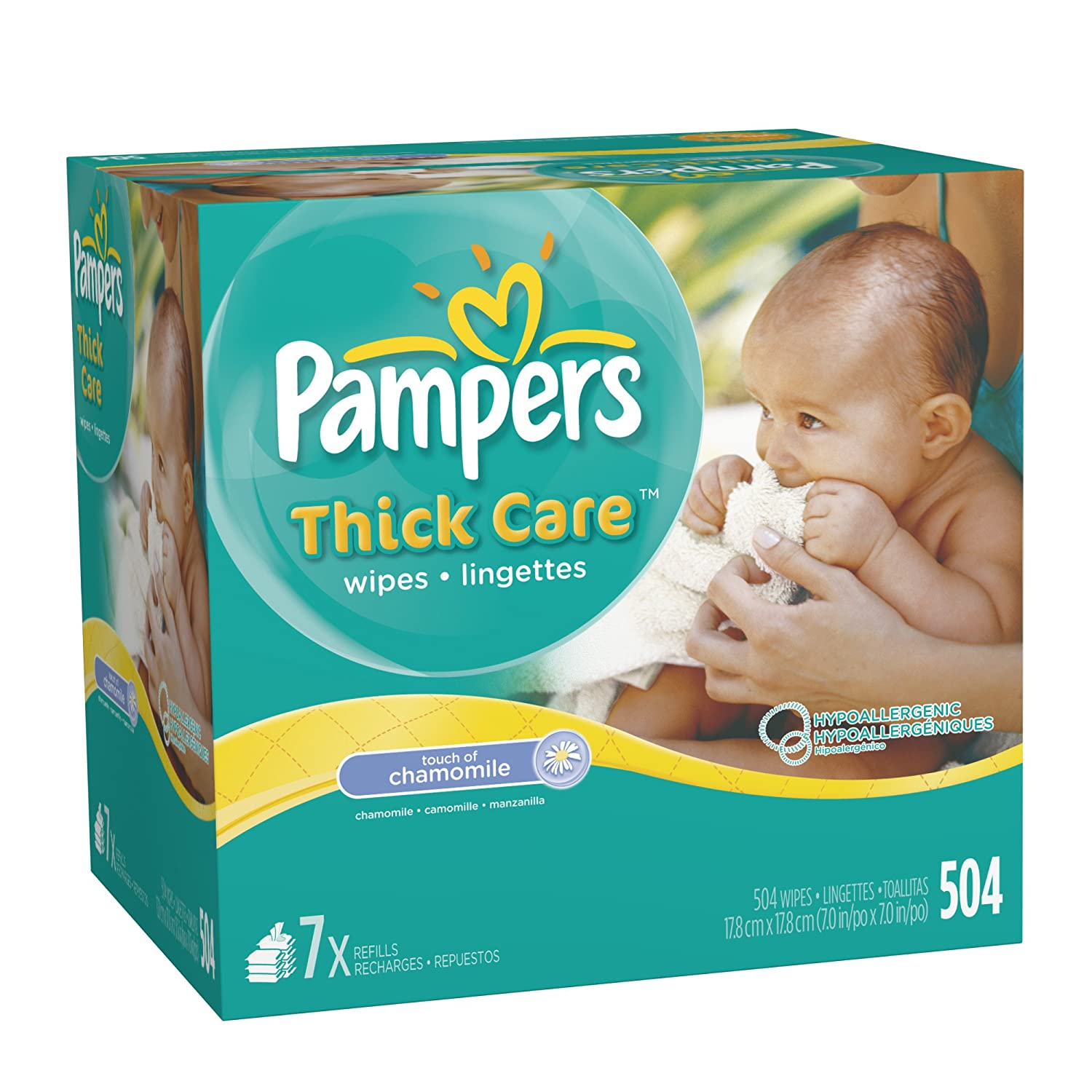 Amazon.com: Pampers ThickCare Touch of Chamomile Wipes Refill, 7x ...