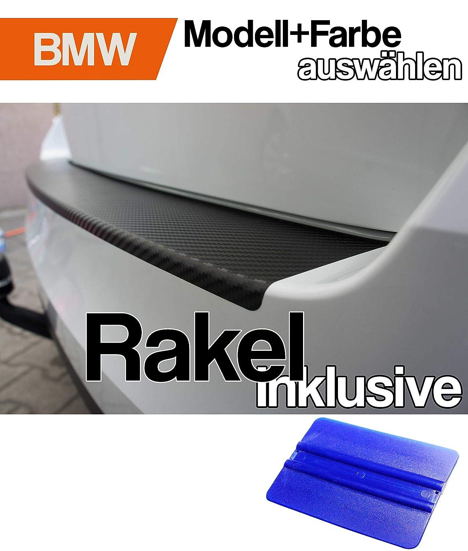 5er F11 Kombi Ladekantenschutz Lackschutzfolie von CCW/© mit Profi-Rakel in 3D Carbon Schwarz