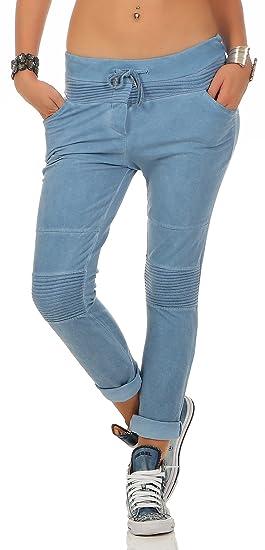 Zarmexx Dames Pantalons de survêtement Sweatpants Pantalon Loisirs  Boyfriend Joggeurs Coton Taille af59d700008