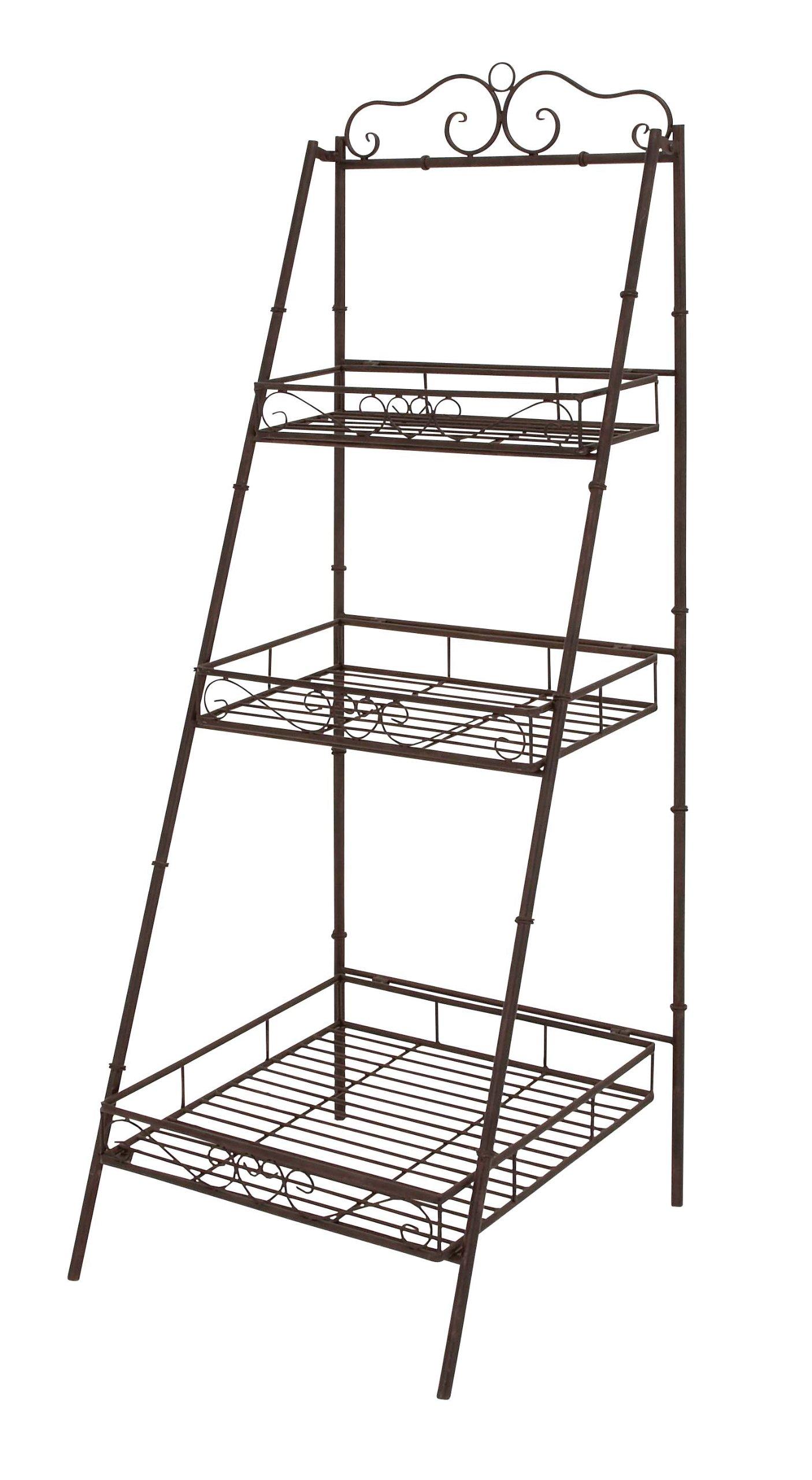 Deco 79 Metal 3 Tier Shelf, 21-Inch by 59-Inch, Set of 2