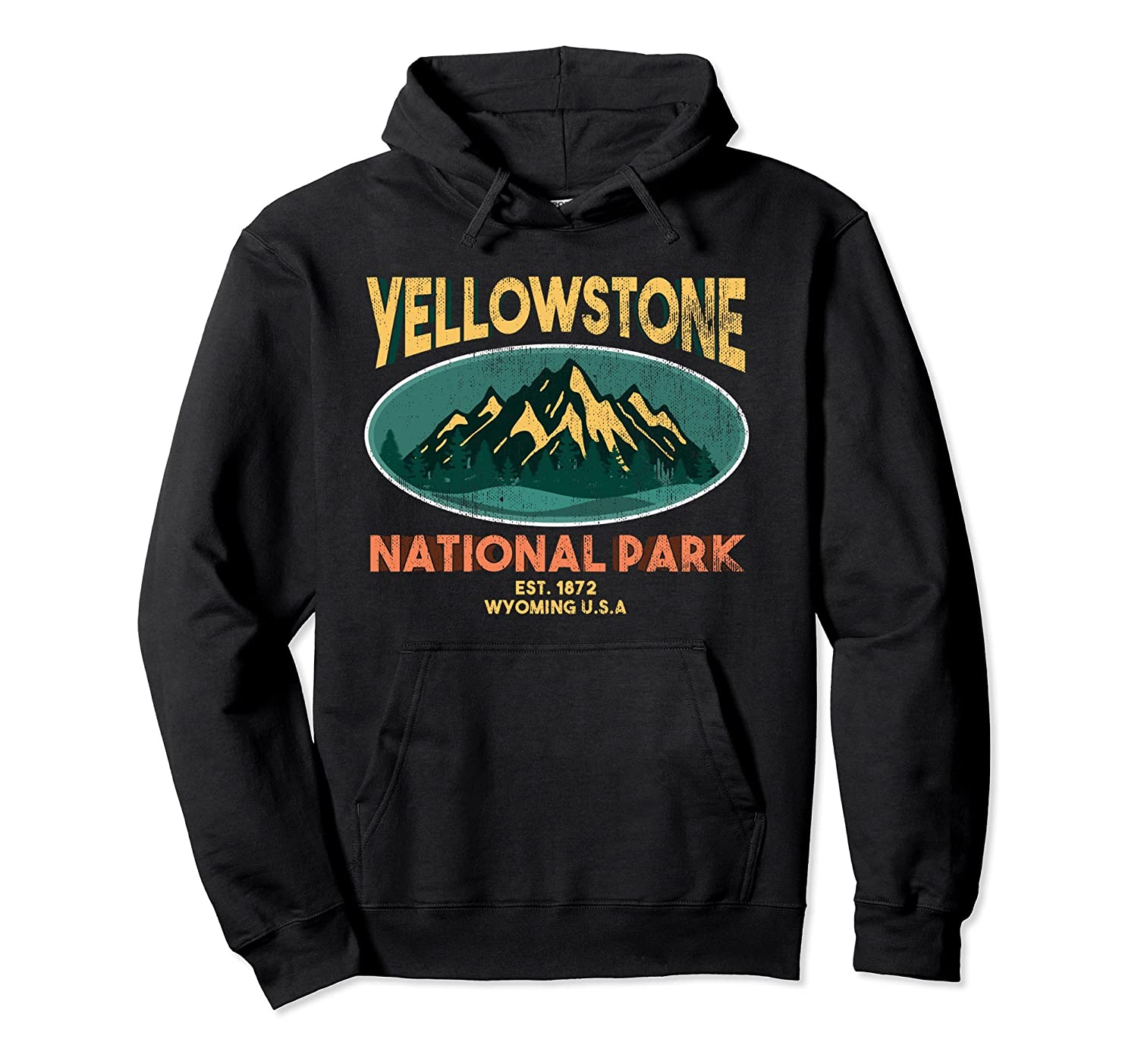 Yellowstone National Park Wyoming Mountain Hoodie Sweatshirt-TH