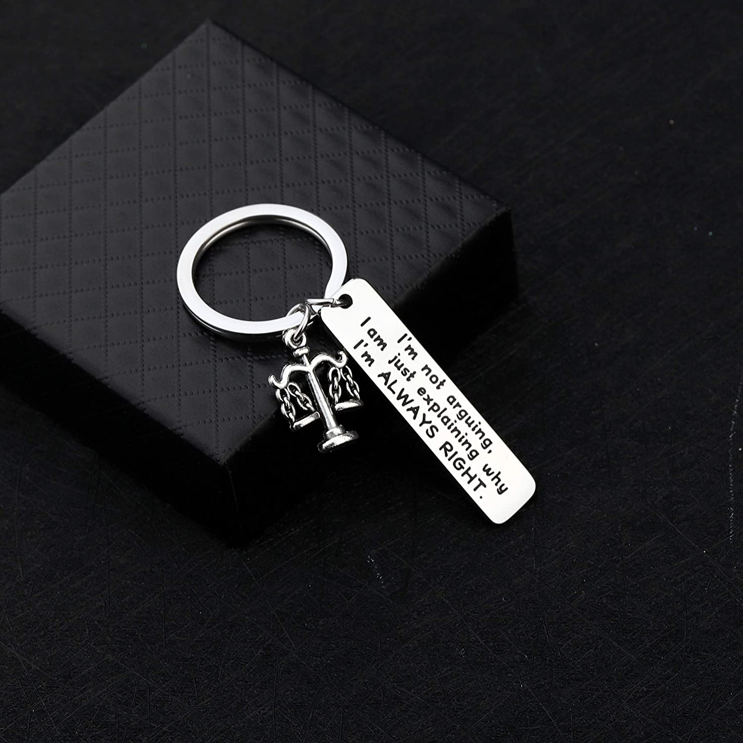 AKTAP Funny Lawyer Gifts Lawyer Key Chain Im Not Arguing I Am Just Explaining Why Im Always Right