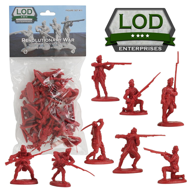 16 Red 1:32 Figures LOD Revolutionary War British Army Grenadier Soldiers