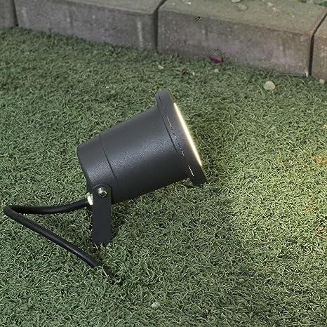 Foco de jardín con pica en gris GU10 IP54 Proyector Exterior ...