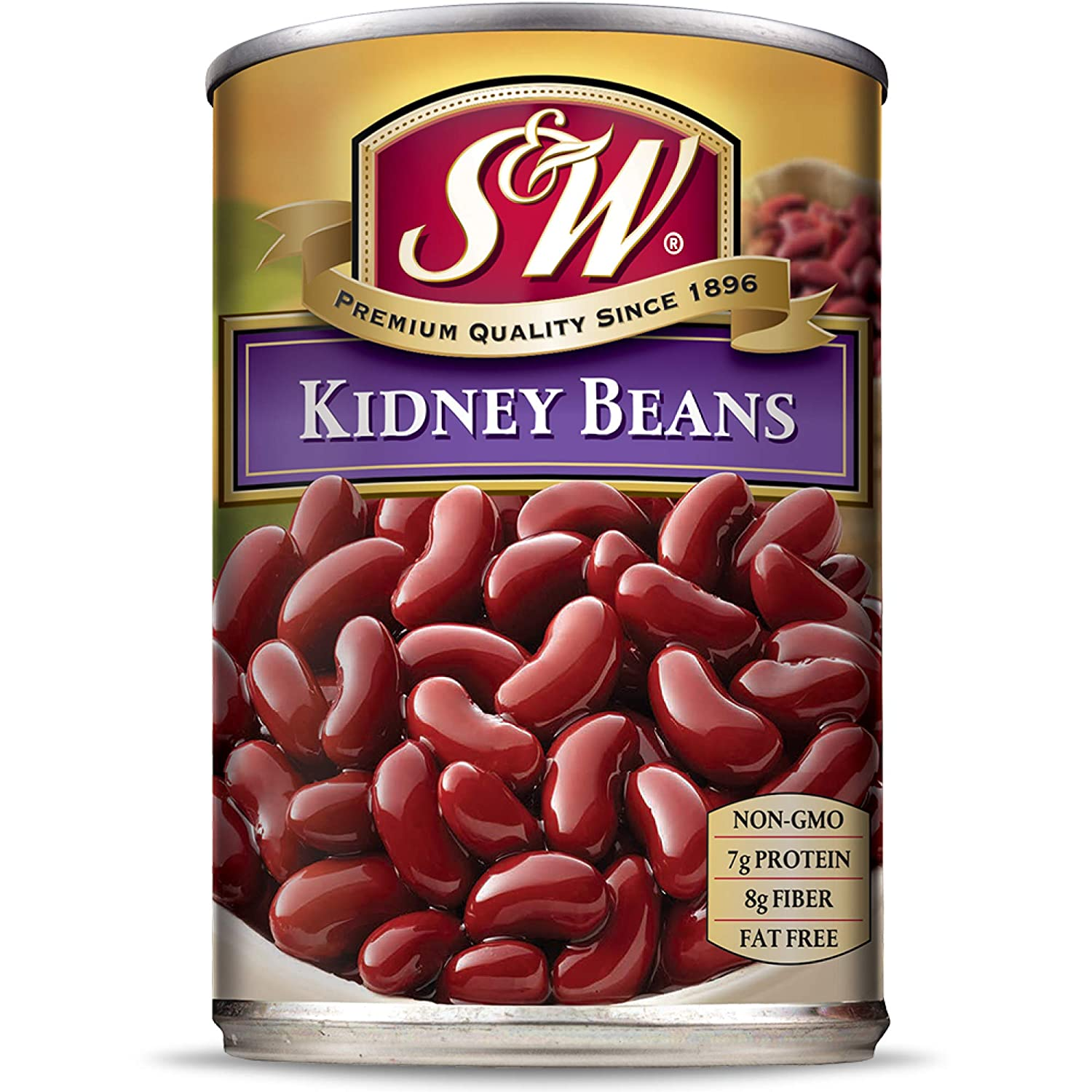 Amazon Com S W Kidney Beans 15 5 Ounce Can Pack Of 12 Canned Beans Grocery Gourmet Food