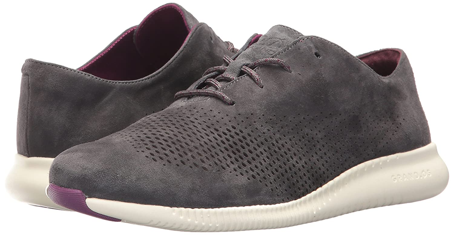 Cole Haan Women's 2.Zerogrand Laser Wing Oxford B06X9QPVMD 7 B(M) US|Grey Pinstripe