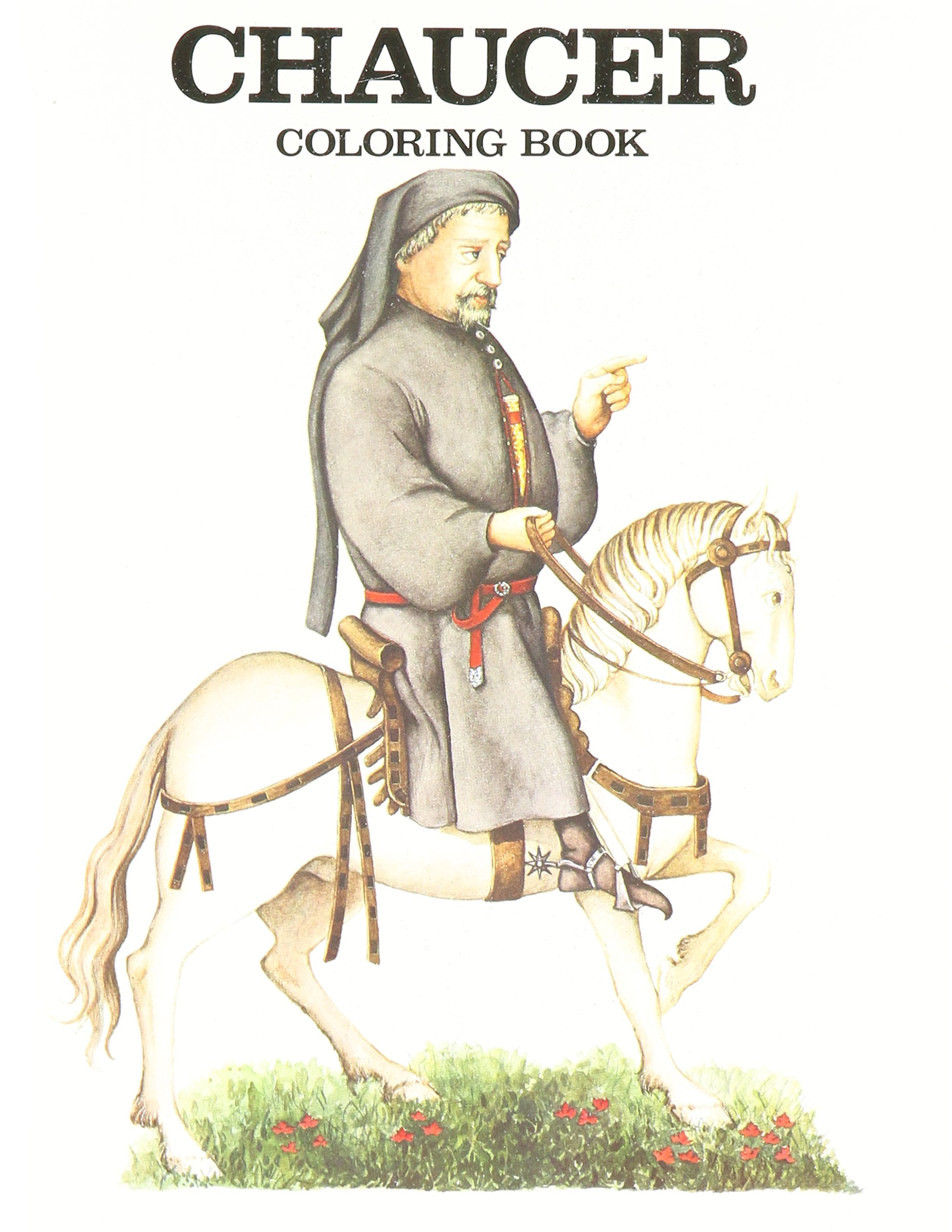 chaucer coloring book bellerophon books 9780883880173 amazon