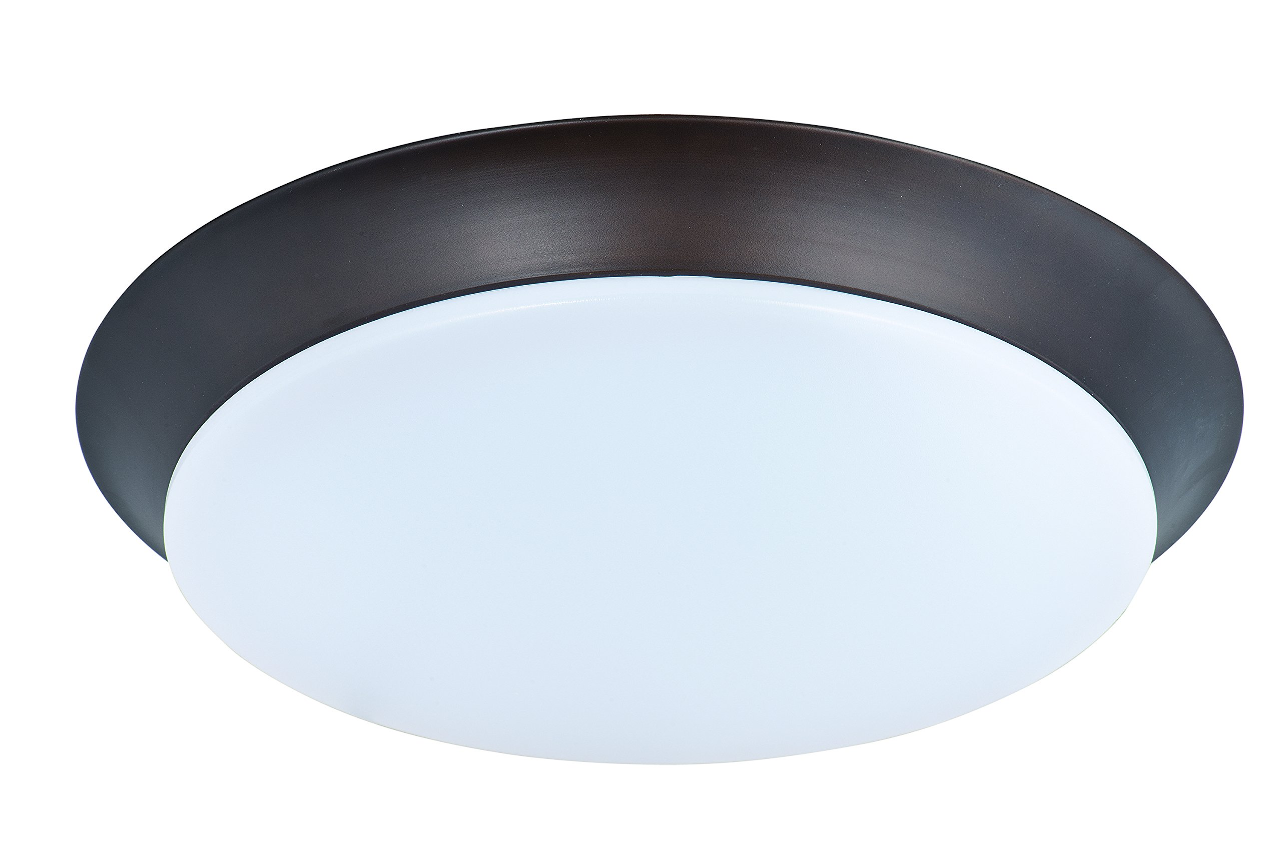 Maxim 87595WTBZ Profile EE LED Flush Mount, Bronze Finish, White Glass, PCB LED Bulb , 60W Max., Dry Safety Rating, Standard Dimmable, Shade Material, 6048 Rated Lumens