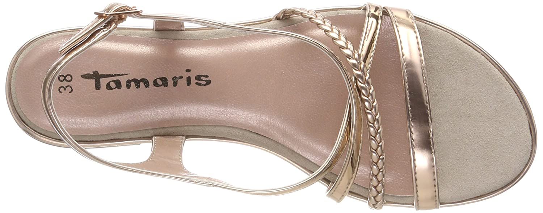 Tamaris Damen Sandalen 28129 Slingback Sandalen Damen Pink (Copper) 14eb1e