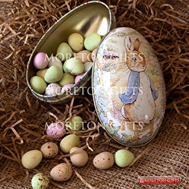 Beatrix potters peter rabbit easter treat tin luxurious gift beatrix potters peter rabbit easter treat tin luxurious gift mini eggs by moreton negle Images